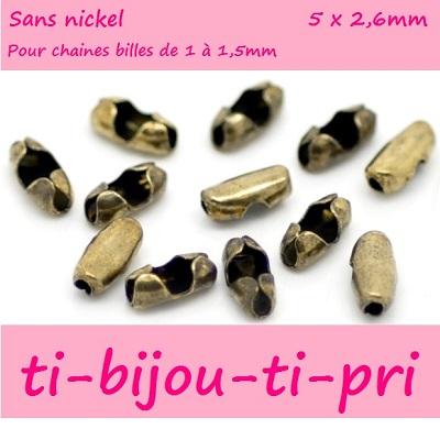 LOT de 80 EMBOUTS PINCES ATTACHE RUBAN à griffes 6mm MIX 5 COULEURS bijoux