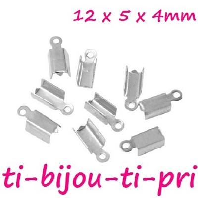 LOT de 200 EMBOUTS serre-fils à écraser plier 9x4mm BRONZE bracelet perles bijou