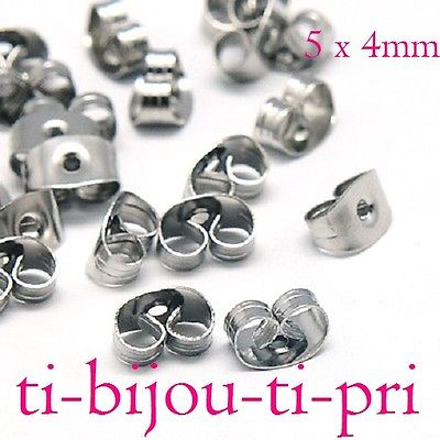 LOT de 10 CREOLES CERCLES 29x26mm fabrication BOUCLES D/'OREILLES ARGENTE perles