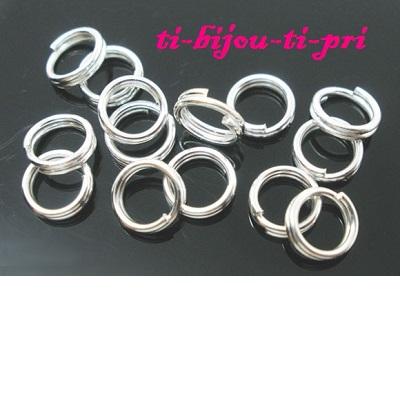 LOT de 25 ANNEAUX JONCTION connecteurs fermés OVALES 26 x 16mm ARGENTES perles