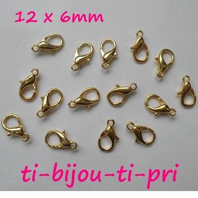 LOT de 8 attaches MOUSQUETONS FERMOIRS 33x13mm PORTE-CLES BIJOUX DE SAC perles