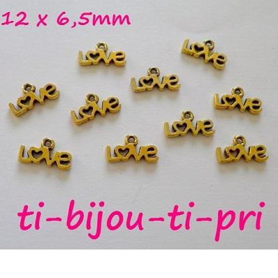 LOT de 18 PENDENTIFS DORE perles breloques CLES CLEFS KEYS création bijoux