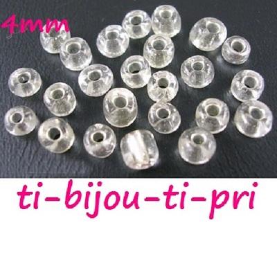 LOT d/'environ 500 PERLES rocaille VERRE VIOLET nacré irisé 4mm 6//0 bijoux