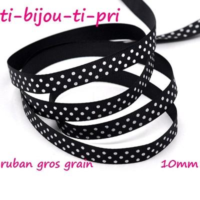 LOT de 10 NOEUDS RUBAN GROS GRAIN ROUGE POIS 37 x 24mm perle barrette cheveux