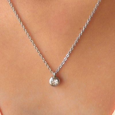 LOT de 6 PENDENTIFS BRELOQUE SEQUINS 10MM ACIER INOXYDABLE ANTI-ALLERGIQUE perle