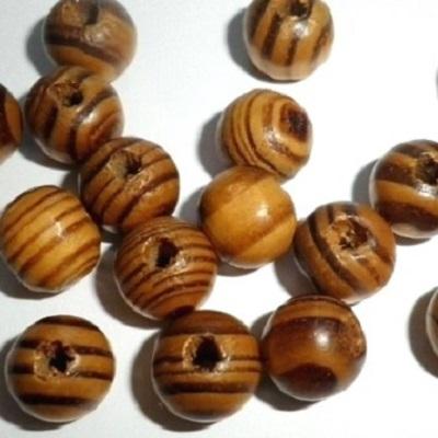 lot de 100 perles en bois rondes naturel camel chocolat. Black Bedroom Furniture Sets. Home Design Ideas